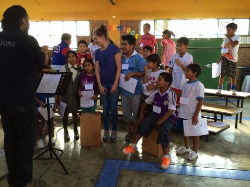 Fanny visiting Sinfonia por el Peru en el Augustino, Lima, Peru.
