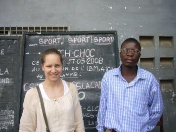 Fanny in project visit in Boma, Rep. Dem Congo.